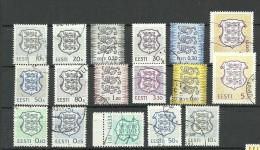 ESTLAND Estonia Estonie Lot Wappen Coat Of Arms 1993-2002 O - Estonia