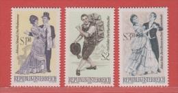 1970 ** (sans Charn., MNH, Postfrish)  Yv  1167/9Mi  1338/40ANK 1368/70 - 1961-70 Ongebruikt