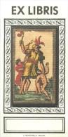 Ex-Libris - ** Vierge **- Italien Par  Par Il Meneghello à Milan - (5,3 X 10,6 Cm) -  Bel état. - Ex-libris