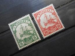 D.R.Mi 21+22 - 5Pf**+10Pf** Deutsche Kolonien ( TOGO ) 1909 - Wz 1 - Colony: Togo