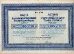 Société Générale Du Crédit Foncier D´Autriche - Action 50 Schillings - Banque & Assurance