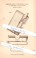 Original Patent - H. Hage In Schluckenau / Sluknov Und Sohland A. D. Spree , 1884 , Cigarren-Etui - Étuis à Cigares