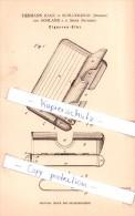 Original Patent - H. Hage In Schluckenau / Sluknov Und Sohland A. D. Spree , 1884 , Cigarren-Etui - Contenitore Di Sigari