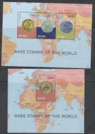 GUYANA , 2014, MNH, RARE STAMPS OF THE WORLD, MAPS, SHEETLET+ S/SHEET - Filatelie & Munten
