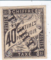 Tahiti Taxe N 10  Neuf, Grosse Charnière, Signé Muler - Oblitérés