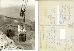 Sierra Nevada De Merida (Venezuela): Teleferico. Postcard B/w 10,5x15 Travelled 1959 To Italy (funivia, Cabinovia) - Venezuela