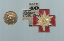EX Yugoslavia - Mountain Rescue Service PKSS MACEDONIA.40 Years - Jubilee Badge. RARE - Alpinism, Mountaineering