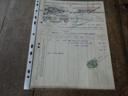 Facture Céramiques De Bourlers Du21/08/1937 - Belgium