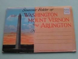 WASHINGTON MOUNT VERNON And ARLINGTON / Anno 19?? CARNET ( Zie/voir Foto Voor Details ) !! - Arlington