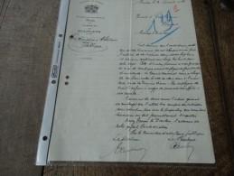 Lettre Manuscrite De La Commune De Bourlers Aux Produits Des Gres Cérames De Bourlers  Du 20/10/1934 - Manuscritos