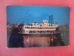 Disney > Disneyland   Mark Twain  Night Ride Paddle Wheel Steamboat Ref 1704 - Disneyland