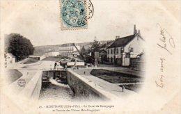 CPA MONTBARD - LE CANAL DE BOURGOGNE ET L'ENTREE DES USINES METALLURGIQUES - Montbard
