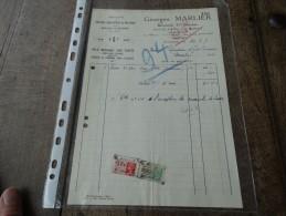 Facture De Georges Marlier (brosserie St Anne à Bourlers)du 26/08/1937 - Belgique