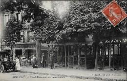 CARTE POSTALE ORIGINALE ANCIENNE : ROBINSON ; HOTEL RESTAURANT DES MARRONNIERS ; ANIMEE ; HAUTS DE SEINE (92) - Le Plessis Robinson