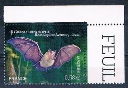 France 2013 - Réf. 4739 - Grand Rhinolophe - Coin De Feuille - Neuf** - France