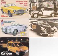 5 Télécartes TCHEQUES - Voitures (bon état) - Czechoslovakia