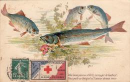 Carte -Cachet Paris Semeuse + Vignette Blessés Militaire 1913 - 1877-1920: Semi-Moderne