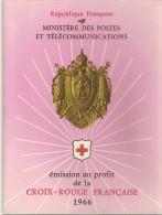 PHILATELIE CARNET DE TIMBRES CROIX ROUGE FRANCAISE RED CROSS MINISTERE POSTES TELECOMMUNICATIONS - Carnets