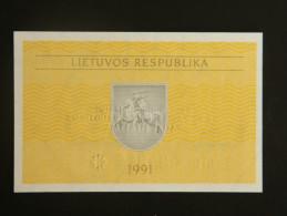 Billets - Lituanie (lietuvos) - Valeur Faciale : 0,10  Talonas - 1991 - Jamais Circulé - Lithuania