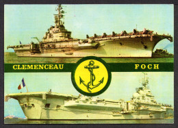 """CPSM. Porte - Avions """"CLEMENCEAU - FOCH"""". Lire La Suite>>> - Warships"""
