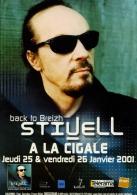 ALAN STIVELL A LA CIGALE - PARIS JANVIER 2001 - BACKTO BREIZH - CHANTEUR MUSICIEN - CP CART'COM 2001 - Musique Et Musiciens