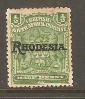 RHODESIA    Scott  # 82*  VF MINT HINGED - Grande-Bretagne (ex-colonies & Protectorats)