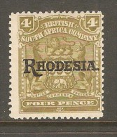 RHODESIA    Scott  # 87*  VF MINT LH - Grande-Bretagne (ex-colonies & Protectorats)