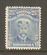 RHODESIA    Scott  # 123* VF MINT HINGED - Grande-Bretagne (ex-colonies & Protectorats)