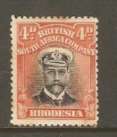 RHODESIA    Scott  # 125* F-VF MINT LH - Great Britain (former Colonies & Protectorates)