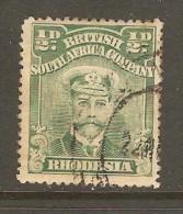 RHODESIA    Scott  # 119d VF USED - Grande-Bretagne (ex-colonies & Protectorats)