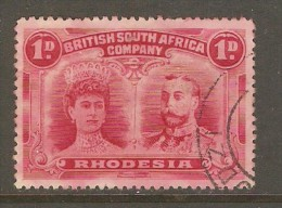 RHODESIA    Scott  # 102 VF USED (PERF. 14 1/4 UNLISTED) - Great Britain (former Colonies & Protectorates)
