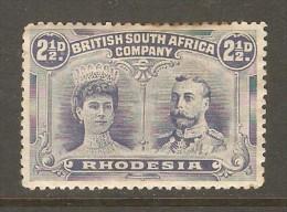 RHODESIA    Scott  # 104* VF MINT HINGED - Grande-Bretagne (ex-colonies & Protectorats)