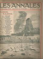 journal LES ANNALES , 29 novembre 1914 , inondation des plaines de FLANDRE , militaria  , frais fr : 2.50�