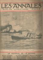 journal LES ANNALES , 1 novembre 1914 , le journal de la guerre , croiseur anglais , militaria  , frais fr : 2.50�