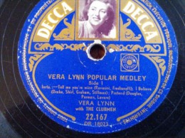 Decca 'Vera Lynn Popular Medley' 78 T - 78 T - Disques Pour Gramophone