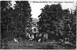 Divonne Les Bains Ain Villa Pension Paris Rome Animation 1910 état Superbe - Divonne Les Bains