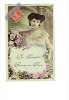 89 - De BEUGNON Recevez Ces Fleurs - Carte Fantaisie Femme Fleurs - Non Classés