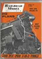 Revue De Modélisme , Chemin De Fer , Trains ,RAILROAD MODEL Craftsman , 1962 , H0 Plans , Frais Fr : 2.50€ - Crafts