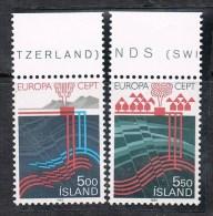 ISLANDE N°551 ET 552 N**  EUROPA - Neufs