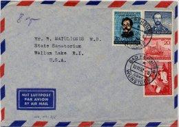 Bund-Lupo ü. 8gr. Mit Mi. 150,152,154,155 Nach USA  !! - Briefe U. Dokumente