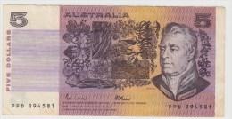 AUSTRALIE 5 Dollars 1985 P44e VF - Emissions Gouvernementales Décimales 1966-...