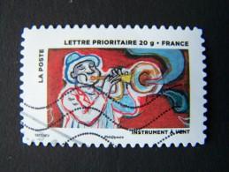 OBLITERE FRANCE ANNEE 2013 N°897 TROMPETTISTE INSTRUMENT A VENT CARNET LE TIMBRE FETE L´AIR AUTOADHESIF AUTOCOLLANT - France