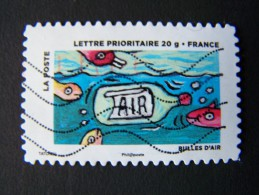 OBLITERE FRANCE ANNEE 2013 N°890 BULLES D'AIR SERIE DU CARNET LE TIMBRE FETE L´AIR AUTOADHESIF AUTOCOLLANT ADHESIF - France
