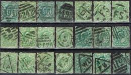 BB 359 LOT GROOT-BRITTANNIE  GESTEMPELD   EDWARD   ZIE SCAN   STEMPELS - 1902-1951 (Re)