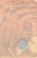 REPRESENTATION DE BILLETS DE CINQ FRANCS - Monnaies (représentations)