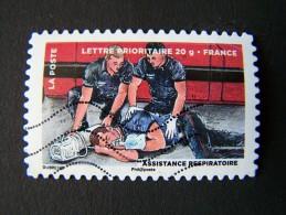 OBLITERE FRANCE ANNEE 2013 N°892 ASSISTANCE RESPIRATOIRE SERIE DU CARNET LE TIMBRE FETE L´AIR AUTOADHESIF AUTOCOLLANT - France