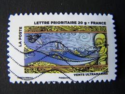 OBLITERE FRANCE ANNEE 2013 N°899 VENTS ULTRAMARINS SERIE DU CARNET LE TIMBRE FETE L´AIR AUTOADHESIF AUTOCOLLANT - France