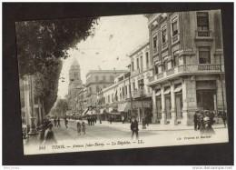 Cachet J.COHARD Tunis Sur Cpa Tunis Avenue Jules Ferry 1926 - Tunisie