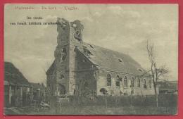 Poelkapelle - De Kerk - Die Kirche  - Feldpost 1916 ( Verso Zien ) - Langemark-Poelkapelle