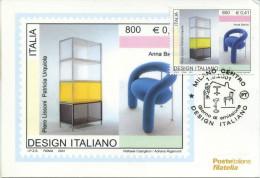 ITALIA - FDC MAXIMUM CARD 2001 - DESIGN ITALIANO- ANNULLO SPECIALE MILANO - Cartoline Maximum